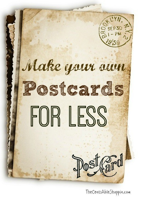 diy making your own photo postcards to send by mail
