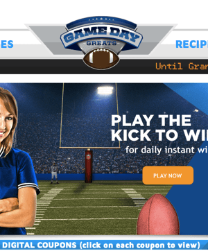 Kroger Kick to Win Game | Play Daily for any of over 6,000 Prizes