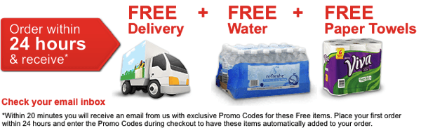 Safeway FREE Delivery on your 1st Order FREE Paper Towels FREE