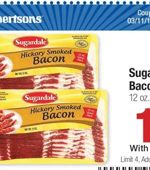 Albertsons: Sugardale Bacon $1.73