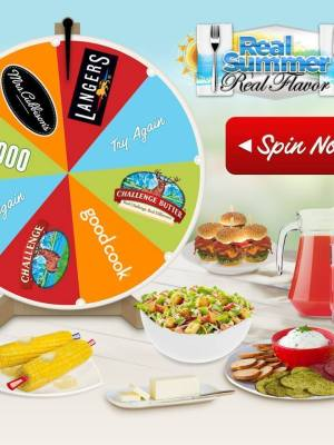 Real Summer Real Flavor Challenge: Spin to Win 1 of over 4,000 Prizes from Langers, Challenge & More