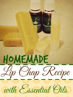 Homemade Lip Chap Recipe {with Essential Oils}