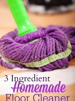 Easy 3 Ingredient Simple Floor Cleaner