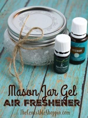 DIY Mason Jar Gel Air Freshener