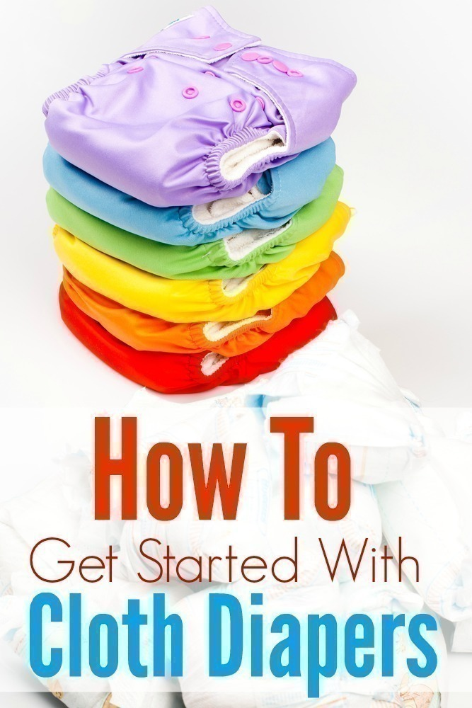 After cloth diapering 5 kids, I'm sharing my tips! Find out everything you need to know to help you get started with cloth diapers! #baby #diapers #cloth