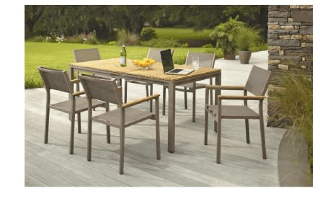 Home Depot: Barnsdale Teak 7-Piece Patio Dining Set 57% OFF