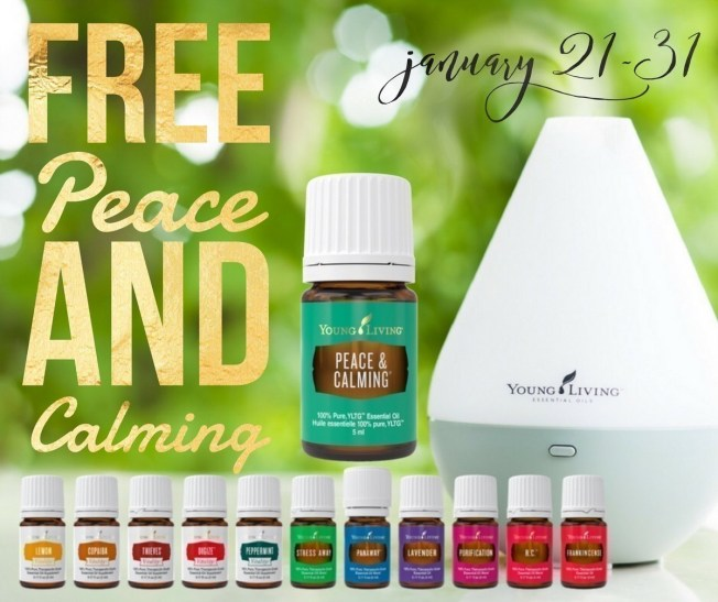 Young Living Premium Starter Kit with Dewdrop Diffuser (Score FREE Peace & Calming)
