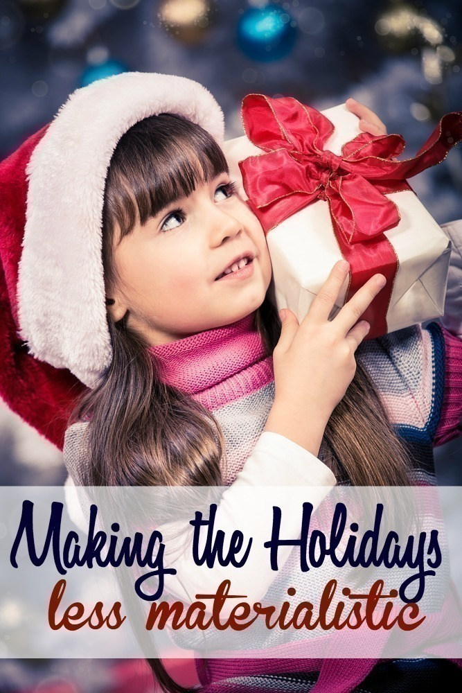 It's not the gifts that make the holidays important - but the meaning behind the gifts. It's the spirit of giving ... the time spent together, and the opportunity to create experiences versus a focus on material things.