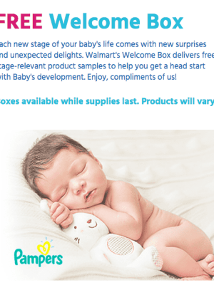 Walmart: FREE Baby Welcome Box + FREE Shipping