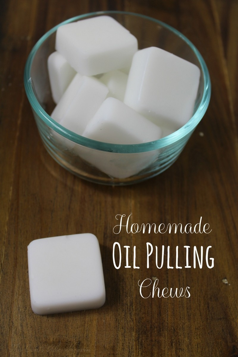 These homemade oil pulling chews are incredibly easy to make and will save you SO much time!