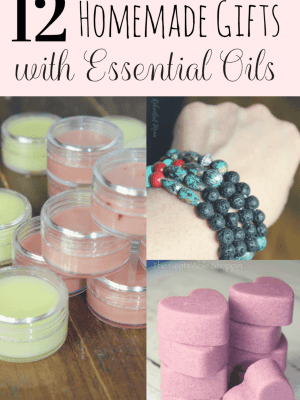 12 Homemade Gifts with Essential Oil