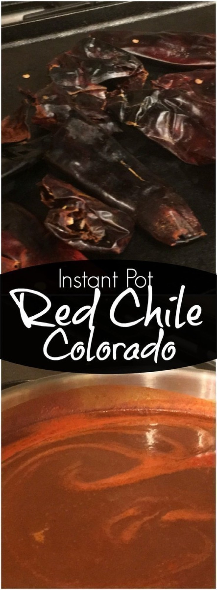 This Red Chile Colorado is super easy to make in the Instant Pot and is excellent used with enchiladas, burritos, and even drizzled over tamales.  #InstantPot #chile #chilecolorado #pressurecooker #Mexican