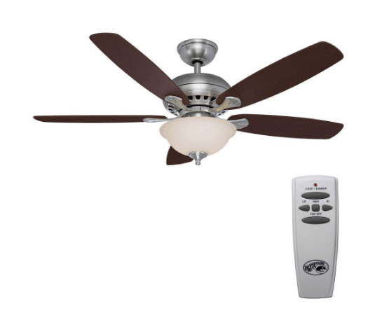Hampton bay southwind 52 in brushed nickel ceiling fan 67 the home depot has this hampton bay brushed nickel southwind 52 ceiling fan on sale for 67 reg 90 mozeypictures Choice Image