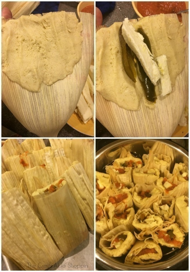 Authentic Mexican tamales with fresh cheese, jalapeños and fresh salsa - whipped up quickly and easily in your pressure cooker!