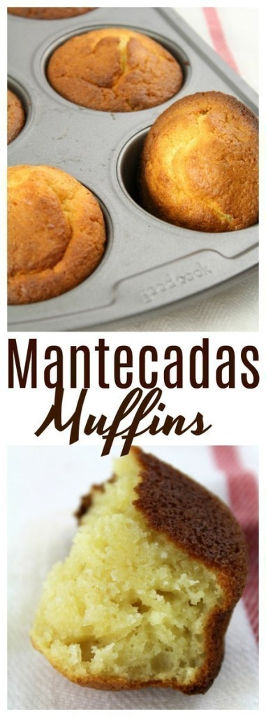 A type of spongy pastry from Spain similar to a muffin, but flatter. .. Mantecadas are soft and delicious, best eaten at breakfast with a hot drink.