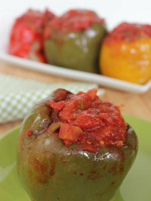 Easy Crock Pot Stuffed Peppers