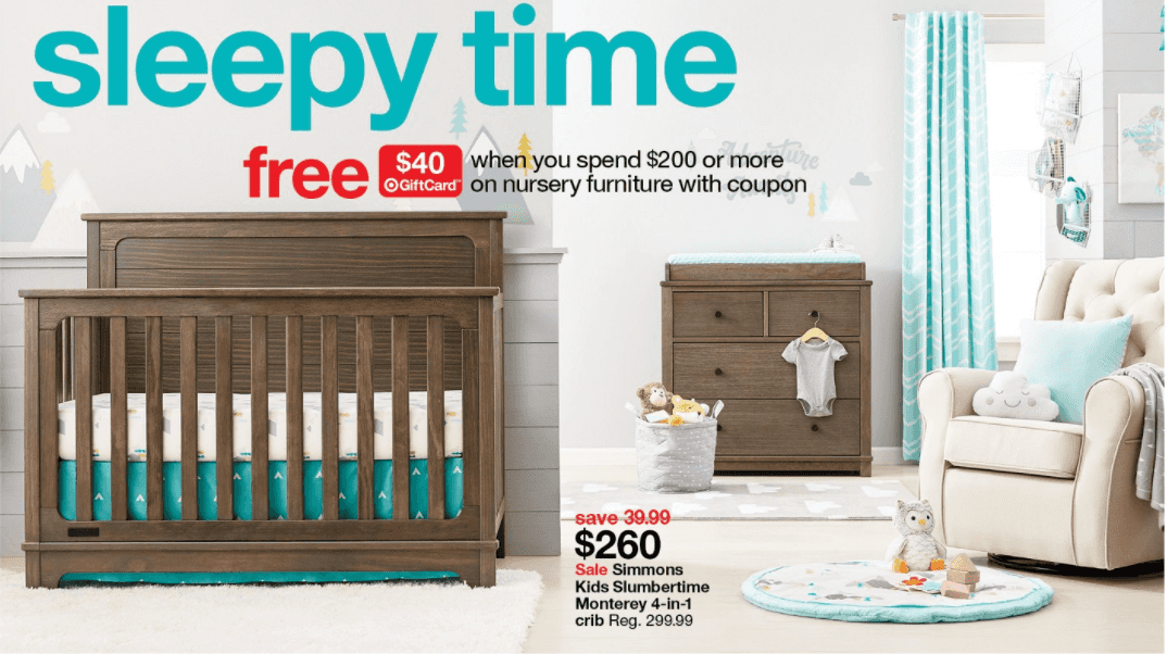 Ordinaire Target: $40 Gift Card With $200 Baby Nursery Furniture Purchase