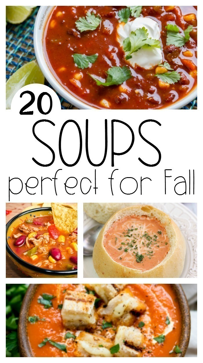 Pull out the crock pots and Instant Pot for cooler weather - here are 20 soups that are perfect for fall!