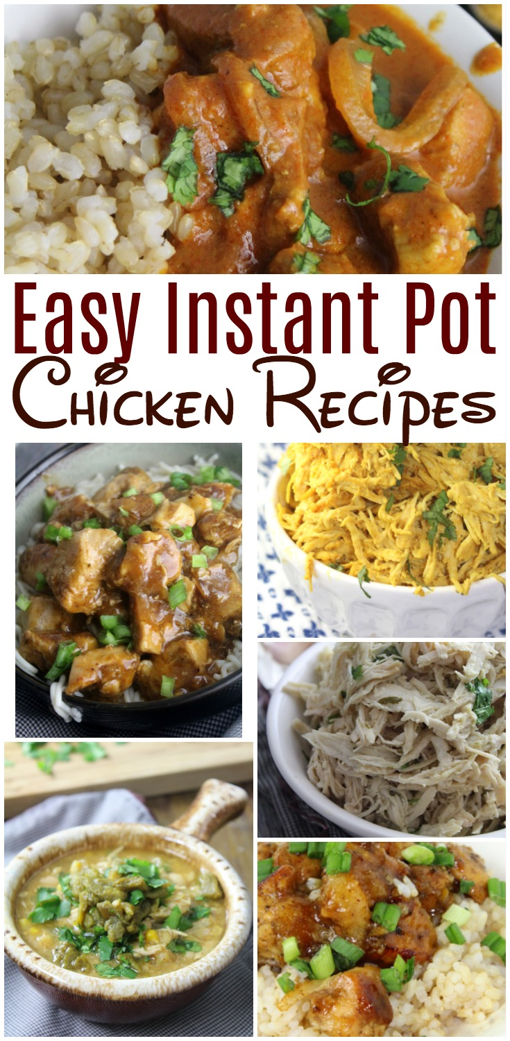 We've put together over 15 of our favorite Instant Pot chicken recipes that are easy, healthy and PERFECT for busy families! #InstantPot #PressureCooker #Chicken #ChickenRecipes #easychicken #healthychicken