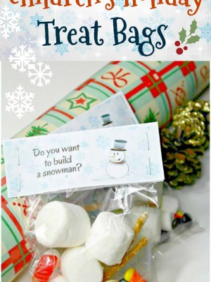 Build a Snowman Children's Holiday Treat Bags