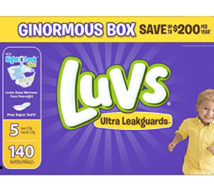 Amazon: Luvs 140 ct Diapers $19