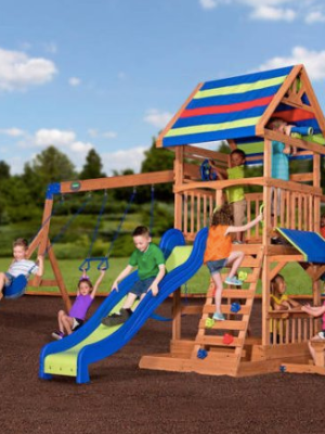 Backyard Discovery Beach Front Wooden Cedar Swing Set $425