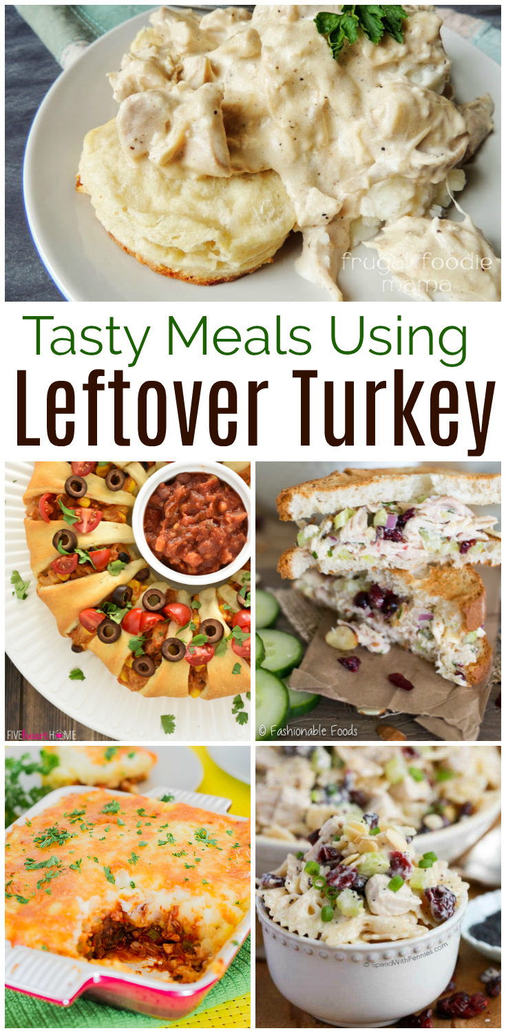 I have a confession to make:  I absolutely LOVE leftover turkey!  If you find yourself with turkey on your hands after the holidays, find over 15 easy, tasty, and family friendly meals using leftover turkey, sure to be a hit with your family!  #turkey #Thanksgiving #turkeyrecipes