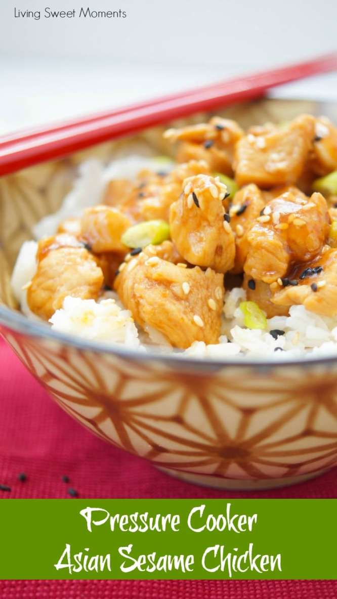 Healthy and Delicious Instant Pot Recipes \\ Pressure Cooker Asian Sesame Chicken - Living Sweet Moments