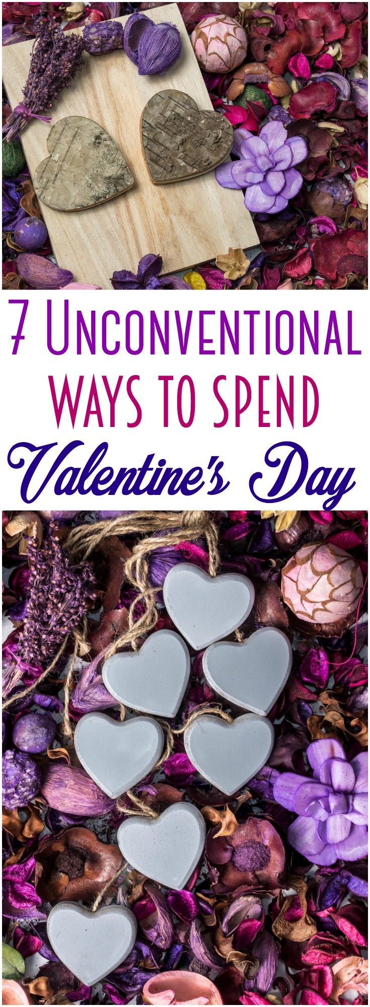 Every year, Valentine's Day entails the same thing: dinner, a movie, chocolates or flowers. This year, change it up a bit ~ here are 7 unique date ideas for Valentine's Day. #ValentinesDay #love #datenight #marriage #dating #savingmoney
