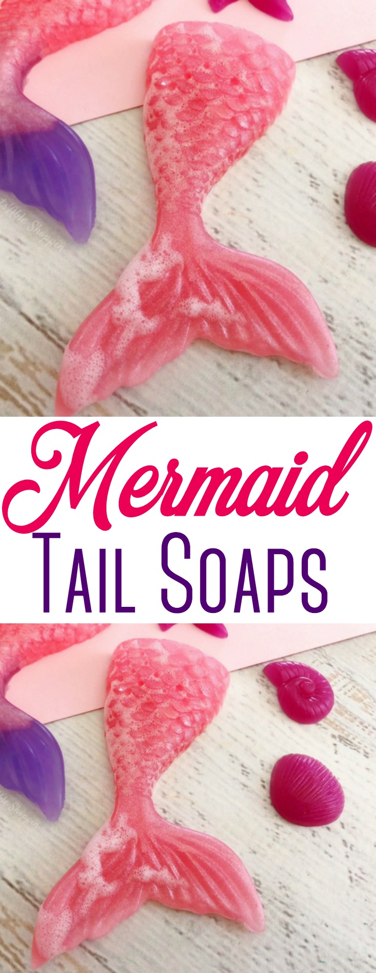 These easy Mermaid Tail Soaps are perfect for small soap favors for kids birthday parties & more!  #mermaid #soapfavors #mermaidtail #kids #birthday #kidsbirthday