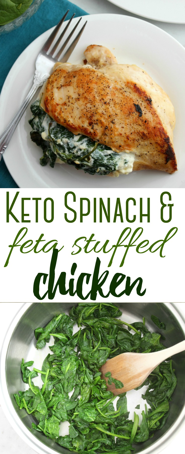 This low-carb Keto Spinach and Feta Stuffed Chicken is a keto-lovers dream! Not only is it easy to make, it's a crowd-pleaser that's also gluten-free!