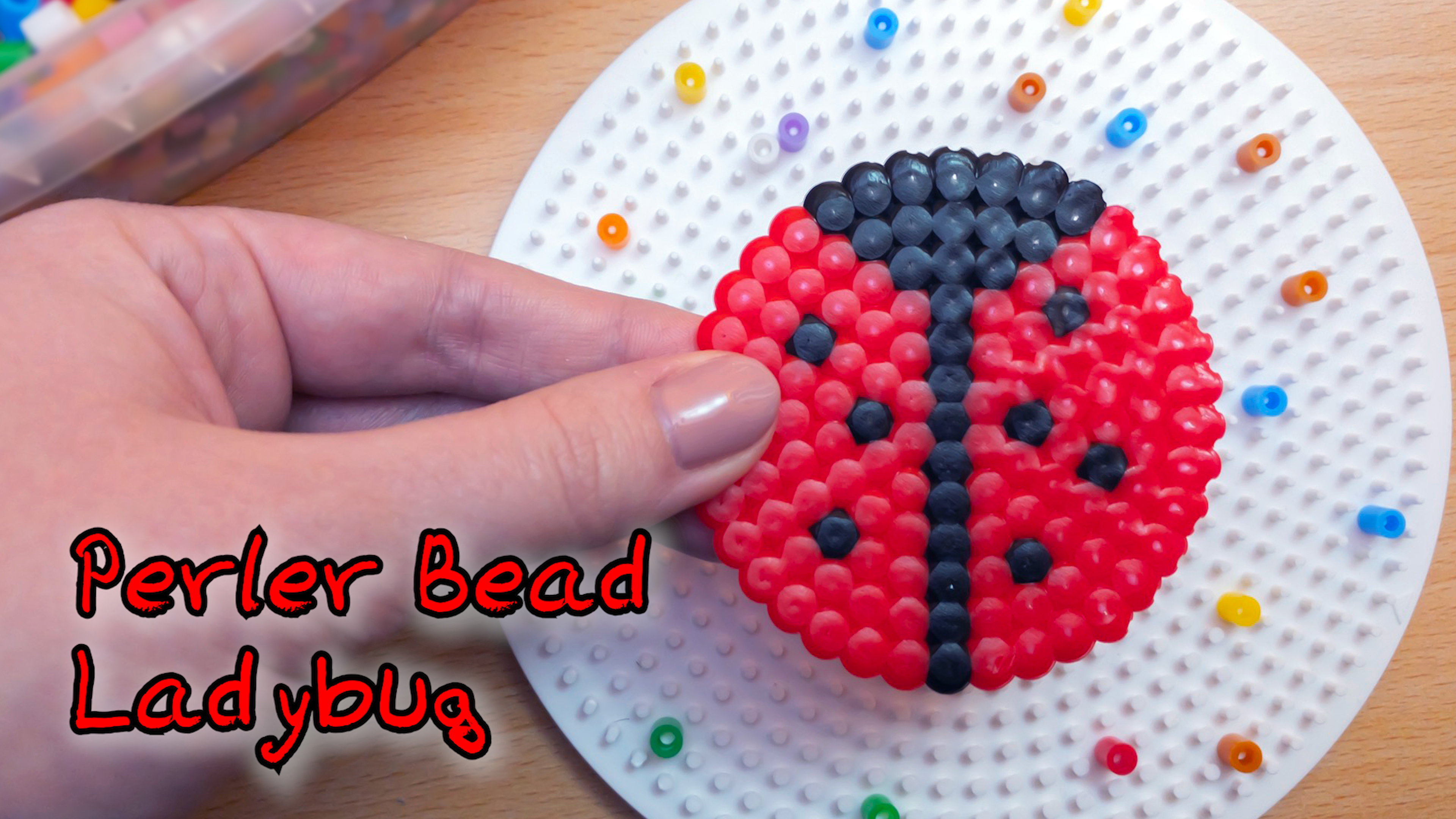 This perler bead ladybug is a fun and adorable project that will help kids develop fine motor skills, patience and artistic design!