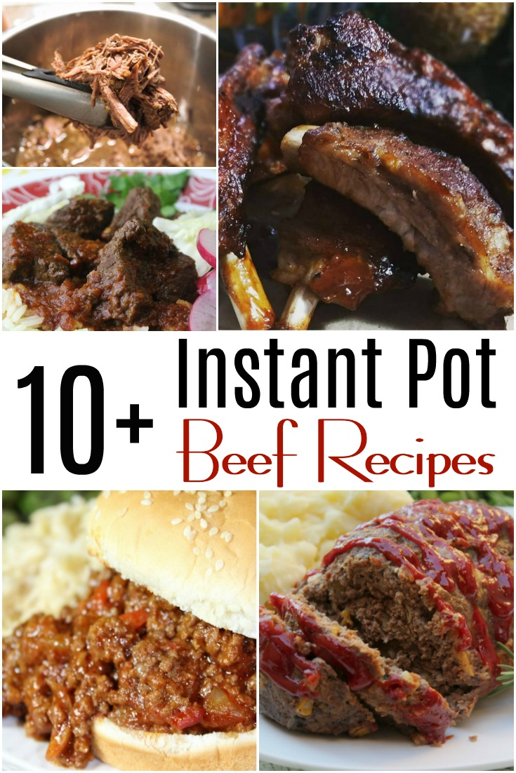 A growing collection of Instant Pot beef recipes and pressure cooker beef recipes that are smashingly delicious and an absolute breeze to throw together! #beef #pressurecooker #instantpot #groundbeef #dinner #easydinner #comfortfood