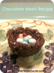 Chocolate Krispie 'Nests'