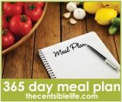 2012 Printable Menu Plan