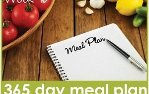 365 Day Meal Plan: Week 16 Menu