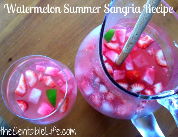 Watermelon Summer Sangria Recipe