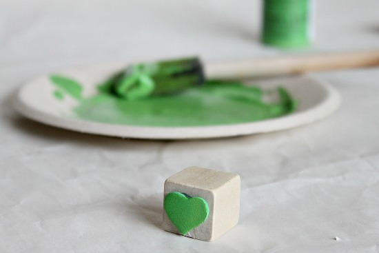 How to make a shamrock with a heart