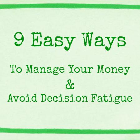 9 Easy Ways to Manage Money