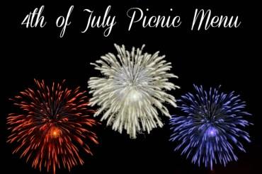 4th of July Picnic Menu
