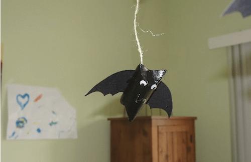 Halloween Hanging Bat Craft