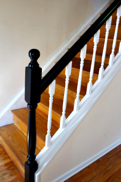 Railing Makeover - update railings and spindles