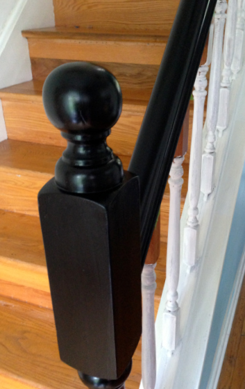 Stair Railing Makeover - update railings and spindles