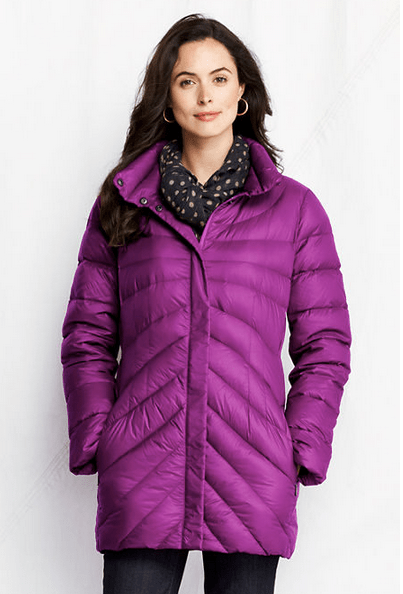 Land's End purple parka women