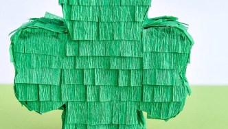 Mini Shamrock Pinatas for St. Patrick's Day
