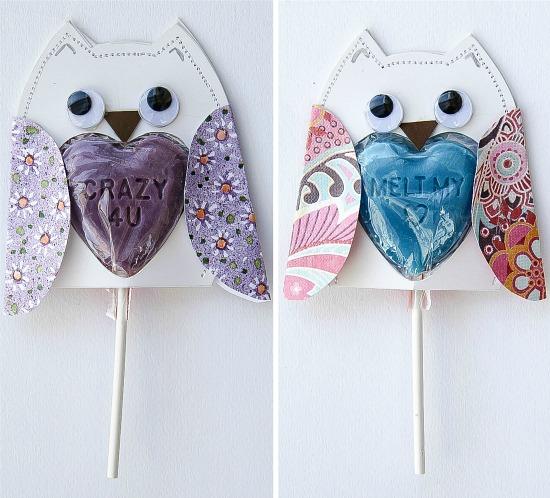 lollipop owl valentines for kids