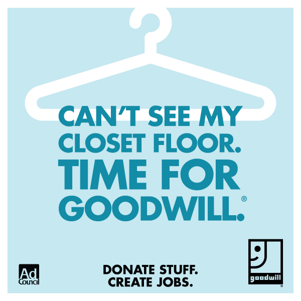 Can't See My Floor Time for Goodwill
