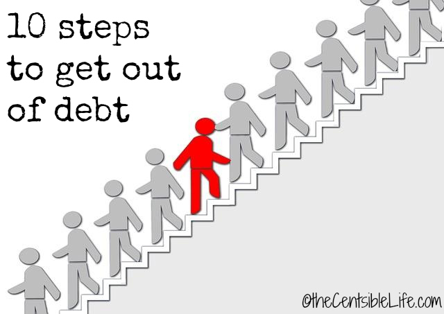 10 Steps to get out of debt