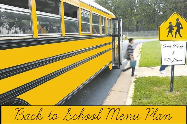 Back to School Menu Plan with #MyMixx