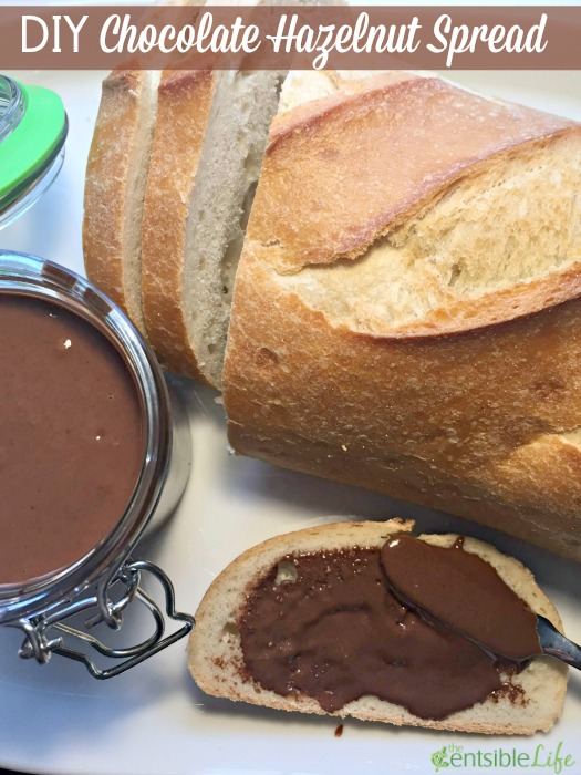 DIY Chocolate Hazelnut Spread